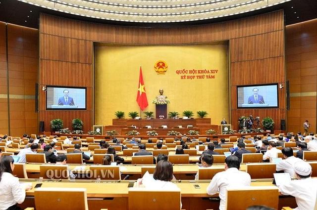 Kỳ họp thứ 8 Quốc hội Khoá XIV, ngày 11/11/2019. Nguồn: Quochoi.vn