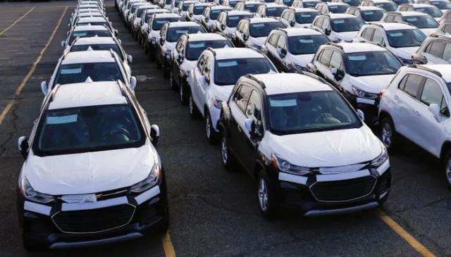 Xe hơi nhập khẩu tại một bến cảng ở New Jersey, Mỹ, tháng 2/2019 - Ảnh: Reuters.
