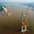 """<p class=""""Normal""""> Cầu Phước Khánh sẽ là cây cầu đầu tiên nối huyện đảo của TP HCM là Cần Giờ, từ đường Nguyễn Lương Bằng kéo dài (quận 7) nối với đường Nguyễn Văn Tạo, huyện Nhà Bè và điểm cuối kết nối vào đường Rừng Sác.</p>"""