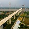 """<p class=""""Normal""""> Cầu Phước Khánh khởi công vào ngày 18/7/2015, được thiết kế là cầu dây văng cao nhất nước, tĩnh không 55 m, thuận tiện cho luồng hàng hải tàu biển cập cảng TP HCM.</p>"""