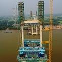 """<p class=""""Normal""""> Dự kiến khi hoàn thành vào cuối năm 2019, cầu Phước Khánh cùng với cầu Bình Khánh sẽ là hai cây cầu có tĩnh không lưu thông thuyền cao nhất Việt Nam (55 m). Cầu Phước Khánh sử dụng công nghệ móng cọc ống thép dạng giếng SPSP (Steel Pipe Sheet Pile) được nghiên cứu phát triển từ năm 1964 tại Nhật Bản.</p>"""