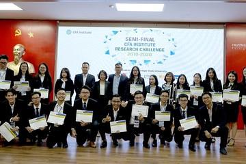 Cuộc thi Phân tích đầu tư của Viện CFA Việt Nam công bố 4 đội xuất sắc nhất vào chung kết