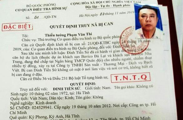 Đã bắt được Tổng giám đốc Bavico Đinh Tiến Sử theo lệnh truy nã đặc biệt - Ảnh 2.