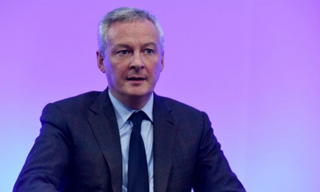 Bộ trưởng Tài chính Pháp Bruno Le Maire phát biểu tại Paris hôm 2/12. Ảnh: AFP.