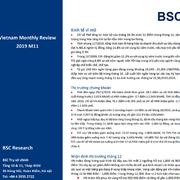 BSC: Vĩ mô và thị trường thị trường tháng 11/2019