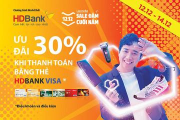 Hoàn tiền 30% trên Lazada khi sử dụng thẻ HDBank