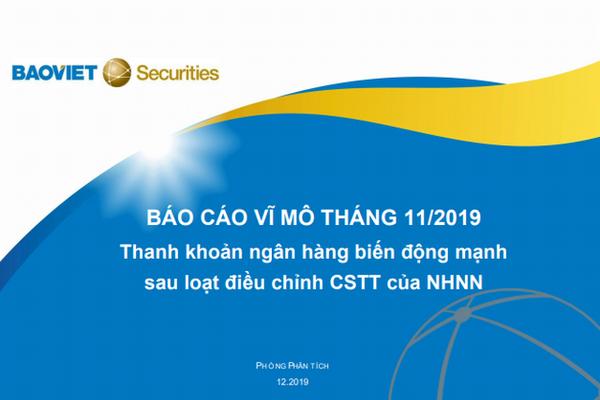 BVSC: Báo cáo vĩ mô tháng 11/2019