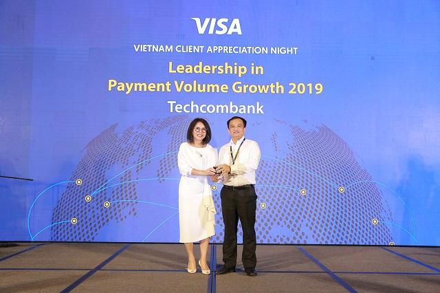 Techcombank dẫn đầu doanh số thanh toán qua thẻ, nhận 7 giải thưởng của Visa