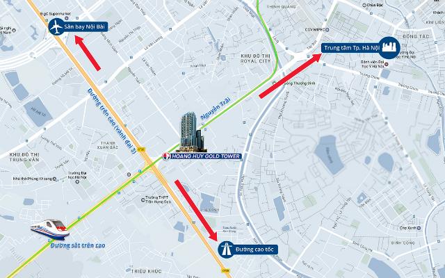 Hoàng Huy Gold Tower có vị trí và giao thông đắc địa và tiện ích bậc nhất