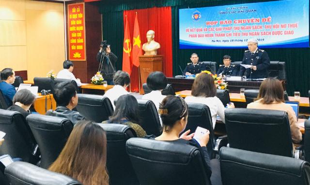 Họp báo chuyên đề của Tổng cục Hải Quan.