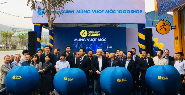 Buổi khai trương siêu thị Điện máy Xanh thứ 1.000. Ảnh: Lê Hải.
