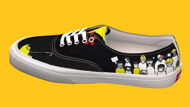 Thiết kế giày lấy cảm hứng từ phong trào biểu tình chống chính quyền ở Hong Kong. Ảnh: Vans.