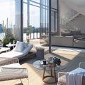 <p> Đây là phối cảnh căn penthouse mới của cựu CEO Uber. Căn hộ này rộng hơn 618 m2 với sân thượng riêng rộng 232 m2. Ngoài ra còn có một hồ bơi nước nóng ngoài trời dài 6 m có thể nhìn ra 4 phía. Căn penthouse có 2 tầng, 4 phòng ngủ, 4,5 phòng tắm và một bếp ăn ngoài trời. Ảnh: <em>Facebook</em>.</p>