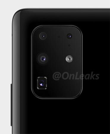 Cụm camera trrên Galaxy S11.