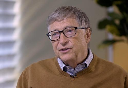 Đồng sáng lập Microsoft Bill Gates trong một cuộc phỏng vấn với Bloomberg. Ảnh:Bloomberg