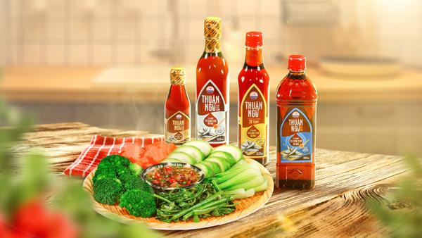Các dòng sản phẩm của nước mắm Thuận Ngư.