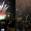 <p> Người dân tại Mumbai, Ấn Độ, ghi lại giây phút giao thừa tại Gateway of India bằng điện thoại. Ở New Delhi, người dân cũng bỏ lại sự phẫn nộ với chính phủ để cùng nhau đón năm mới. Ảnh: <em>Reuters</em>.</p>