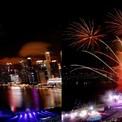<p> Singapore có màn trình diễn ánh sáng nghệ thuật để đếm ngược về thời khắc giao thừa. Ảnh: <em>Reuters</em>.</p>