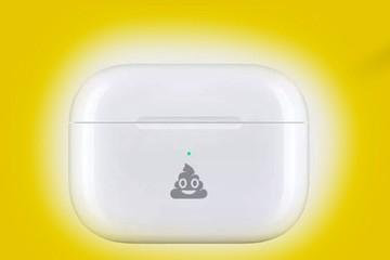 Apple khắc biểu tượng cục phân cười trên vỏ Airpods