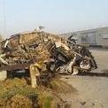 """<p class=""""Normal""""> Chiếc ôtô bị phá hủy này được cho là thuộc về thiếu tướng Iran Qassem Soleimani và chỉ huy dân quân Iraq Abu Mahdi al-Muhandis và được tìm thấy gần sân bay Quốc tế Baghdad, Iraq vào ngày 3/1. Hai vị quan chức trên đã thiệt mạng trong cuộc không kích của quân đội Mỹ mà Lầu Năm Góc sau đó xác nhận là do Tổng thống Donald Trump ra lệnh. Ông Soleimani, 62 tuổi, là người chỉ huy lượng lượng tinh nhuệ Quds và được xem là nhân vật quyền lực thứ 2 của Iran sau Lãnh tụ tối cao Ayatollah Ali Khamenei.<br /><br /><span>Ngay sau sự việc này, ông Mohsen Rezaei, thư ký Hội đồng Khẩn cấp Quốc gia Iran, tuyên bố trên Twitter rằng sẽ trả thù nước Mỹ vì vụ tấn công giết chết tướng Soleimani tại Iraq. Cũng trong một buổi lễ tại Tehran ngày 3/1, ông Gholamali Abuhamzeh, chỉ huy lực lượng Vệ binh Cách mạng Hồi giáo Iran, cũng đánh tín hiệu có thể tấn công 35 mục tiêu Mỹ. Ảnh: <em>Reuters</em>.</span></p>"""