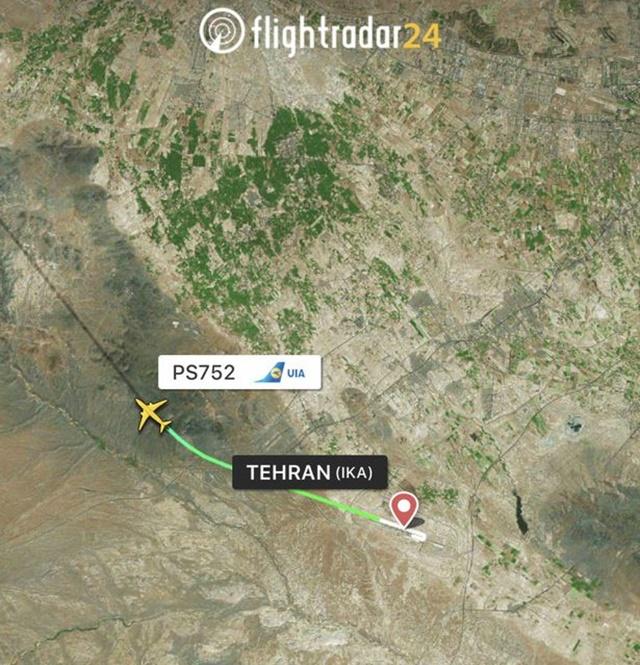 Đường bay của phi cơ gặp nạn. Ảnh: FlighRada
