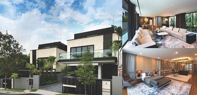 Hai căn biệt thự tại Holland Grove Lane (Singapore) có giá trị 12 triệu USD/mỗi căn của Fisson Group.
