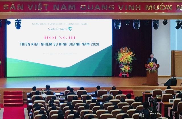 Hội nghị triển khai nhiệm vụ của Vietcombank. Ảnh. Lê Hải