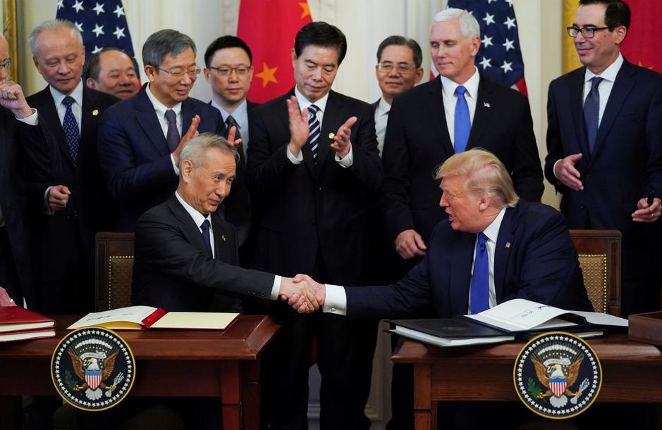 Mỹ, Trung Quốc ký thỏa thuận thương mại giai đoạn 1