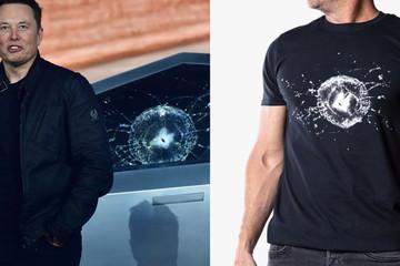Tài kinh doanh của Elon Musk: Tesla bán áo thun in hình cửa kính Cybertruck vỡ với giá 45 USD/chiếc