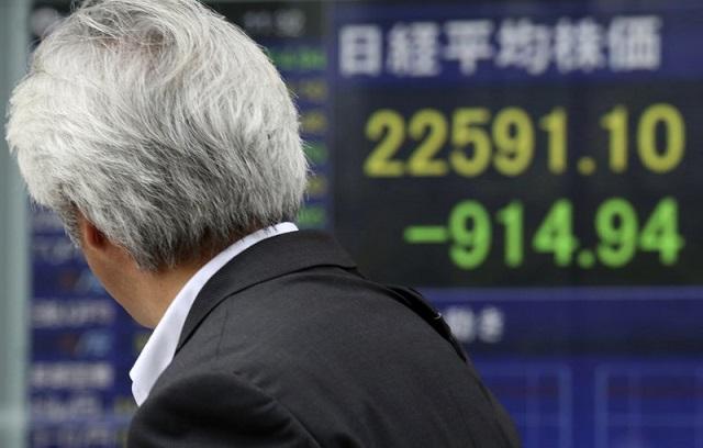 Nhiều chỉ số cổ phiếu lớn ở châu Á giảm 1 - 2%