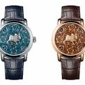 """<p class=""""Normal""""> Biến bề mặt đồng hồ trở thành nơi trưng bày của tác phẩm hội họa tuyệt tác, kỹ thuật tráng men Grand Feu được đảm nhiệm bởi những nghệ nhân tài hoa nhất khéo léo được vận dụng. Kỹ thuật này cho phép tăng cường sắc độ màu sắc và làm chủ các phản ứng ở nhiệt độ 800 đến 900 độ C.</p> <p class=""""Normal""""> Phiên bản đồng hồ dành riêng năm Canh Tý của Vacheron Constantin có giới hạn 12 chiếc trên toàn thế giới và được trang bị dây đeo bằng da cá sấu màu xanh đậm hoặc màu nâu đồng tương ứng với mặt số.</p>"""