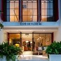 <p> <strong>2. Café de Flore 46</strong></p> <p> Phong cách Morocco đơn giản, sang trọng và tinh tế của Cafe' de Flore 46 thu hút các bạn trẻ đến check in. Phần nhìn của quán được đầu tư thiết kế tổng thể với các thiết kế mảnh, tối giản với tông màu hồng cam thời trang.</p>