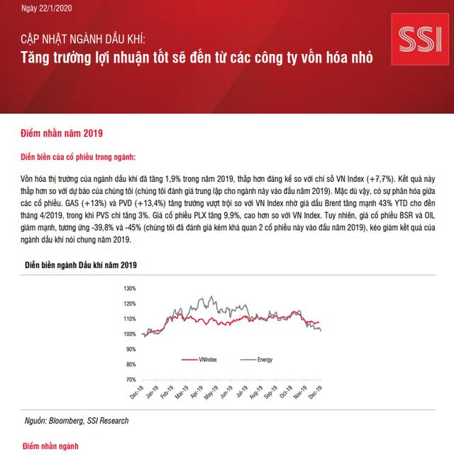 SSI Research: Ngành dầu khí - Tăng trưởng lợi nhuận tốt sẽ đến từ các công ty vốn hóa nhỏ