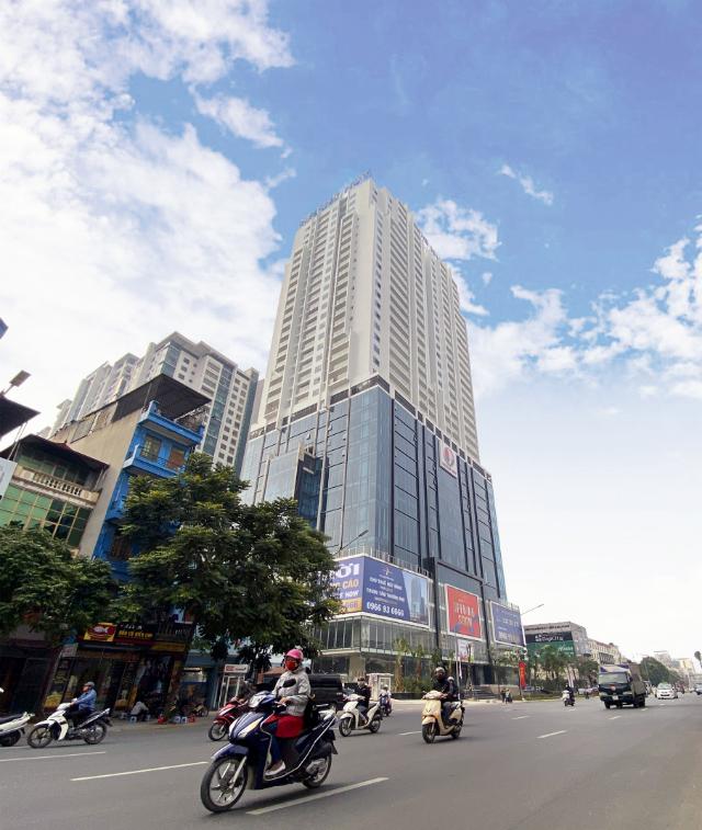 Tháp Gold Tower tại 275 Nguyễn Trãi, Thanh Xuân, Hà Nội đang gấp rút hoàn thiện để khai trương vào tháng 3/2020 tới.