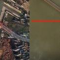 <p> Sự tương phản rõ ràng khi nhìn vào hình ảnh trên cây cầu bắc qua sông Dương Tử trước và sau khi thành phố bị phong tỏa. Sau khi Vũ Hán bị cách ly, xe cộ hầu như không còn đi qua cây cầu này. Ảnh: <em>Getty</em>.</p>