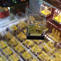 <p> Đại diện các doanh nghiệp vàng bạc đá quý cho biết ngày Thần tài năm nay, các bên đều chuẩn bị lượng hàng lớn hơn năm trước. Theo ghi nhận, các mẫu sản phẩm cũng đa dạng về hình thức, trong đó vàng tạo hình chuột là sản phẩm phổ biến nhất.</p>
