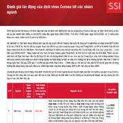 SSI Research: Đánh giá tác động của dịch virus corona tới các nhóm ngành