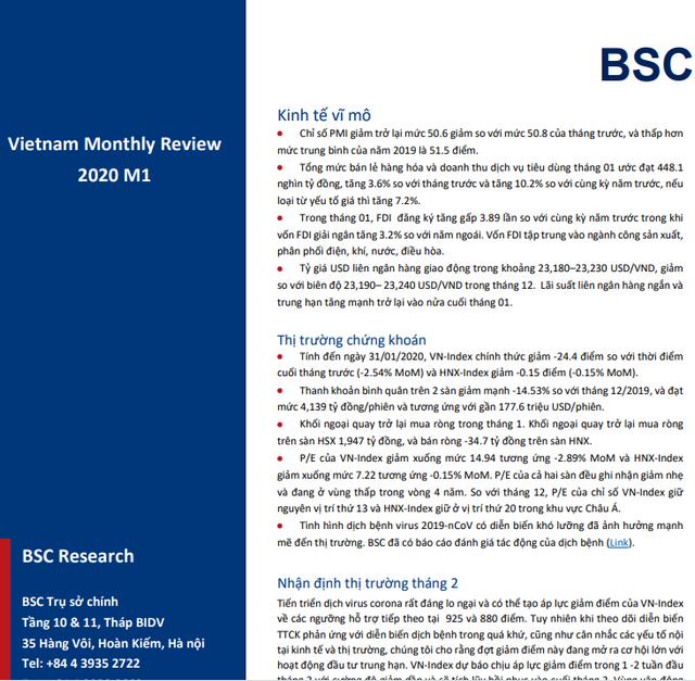 BSC: Vĩ mô và thị trường tháng 1 - Cơ hội trong rủi ro