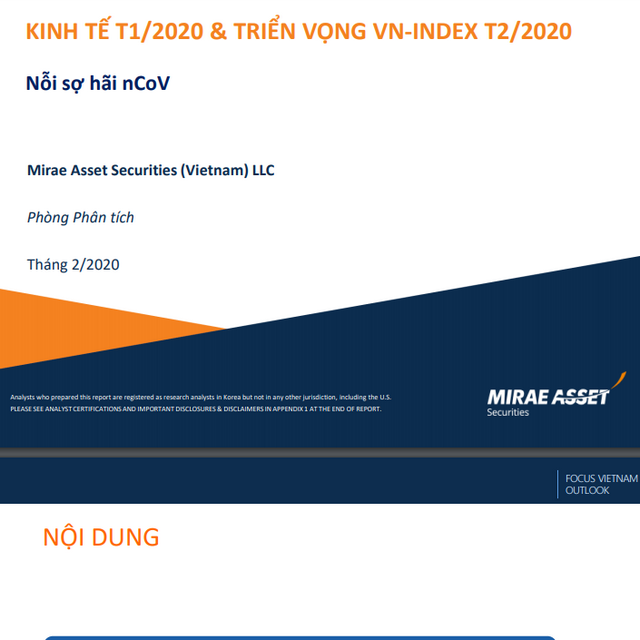 Mirae Asset Việt Nam: Kinh tế tháng 1 và triển vọng VN-Index tháng 2