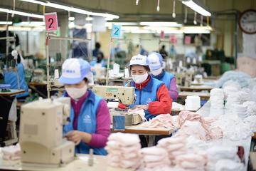 TNG, May 10, Đức Giang, May Đồng Nai đồng loạt cung ứng khẩu trang ra thị trường