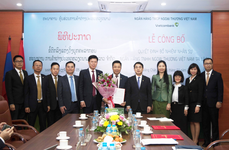 Vietcombank Lào bổ nhiệm nhân sự cấp cao