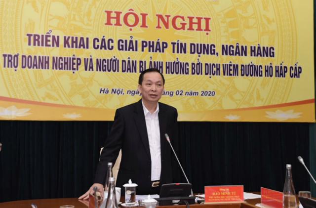 Phó Thống đốc thường trực Đào Minh Tú tại Hội nghị. Nguồn: SBV