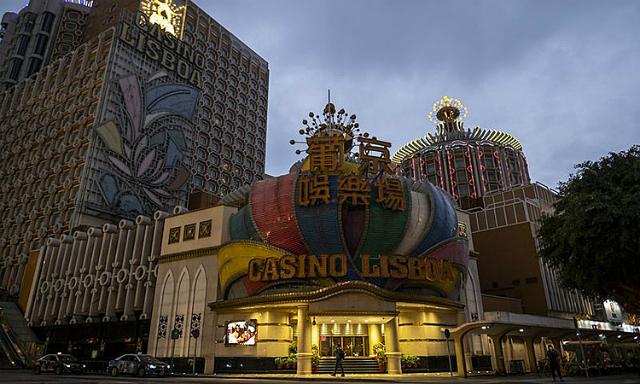 Casino Lisboa đã tạm dừng hoạt động. Ảnh: Bloomberg
