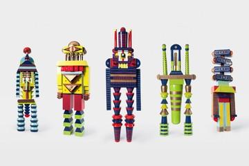 Thương hiệu Việt gây sốt với thiết kế robot gỗ lấy cảm hứng từ khung sắt cửa sổ