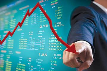 Nhóm ngân hàng lao dốc, VN-Index giảm hơn 10 điểm