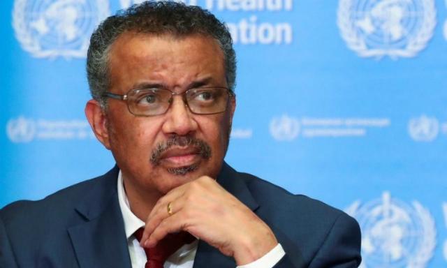 Tổng giám đốc WHO Tedros Adhanom Ghebreyesus trong một cuộc họp báo ở Geneva, Thuỵ Sĩ, hôm 6/2. Ảnh: Reuters.