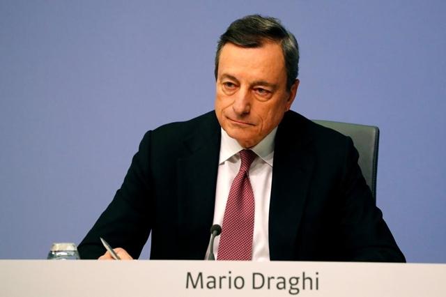 Cựu chủ tịch ECB Mario Draghi. Ảnh: Reuters.