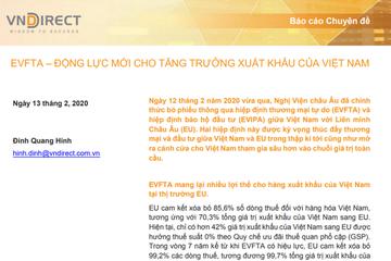 VNDirect: EVFTA - Động lực mới cho tăng trưởng xuất khẩu của Việt Nam