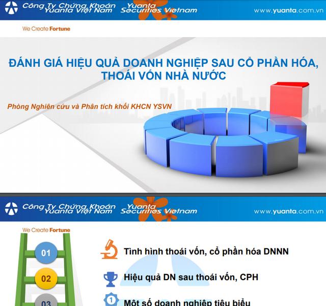 YSVN: Đánh giá hiệu quả doanh nghiệp sau cổ phần hóa, thoái vốn Nhà nước