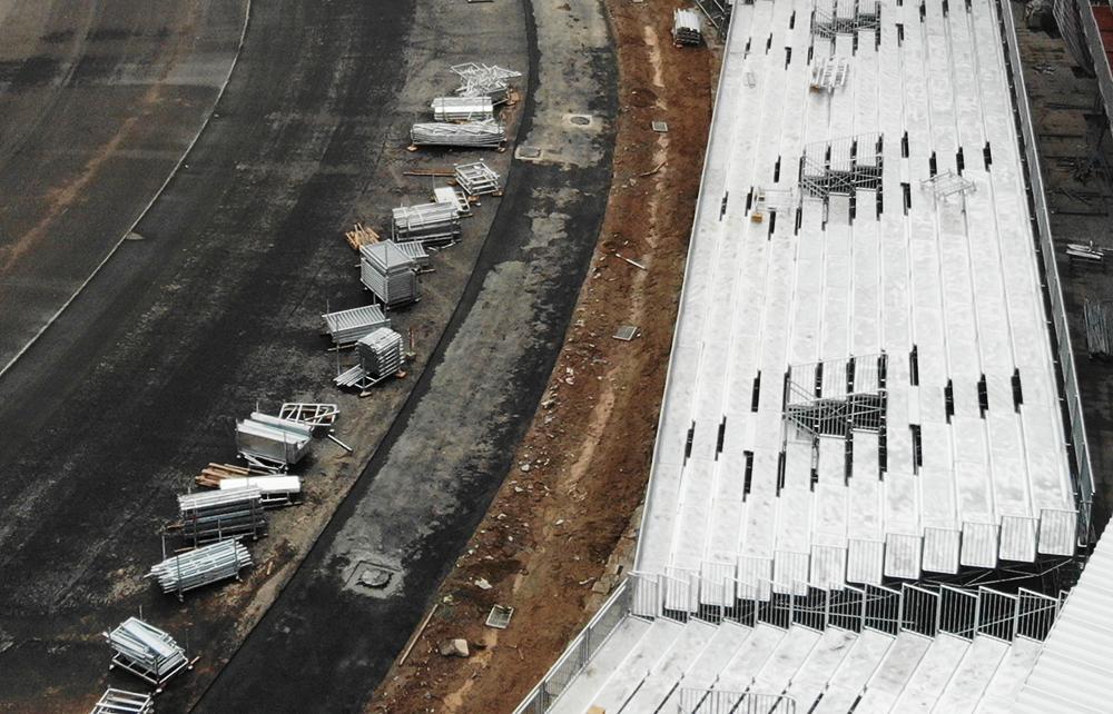 Đại công trường đường đua F1 vào giai đoạn nước rút